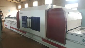 press PVC membrane on cabinet door